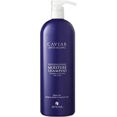 Alterna Caviar Anti-Aging Replenishing Moisture Shampoo Шампунь увлажняющий c морским шёлком 1000мл - фото 4517