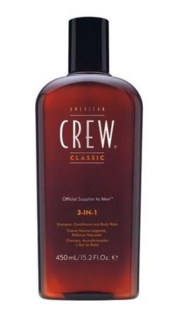 American Crew Classic 3-in-1 - Шампунь, кондиционер и гель для душа 450мл - фото 4618