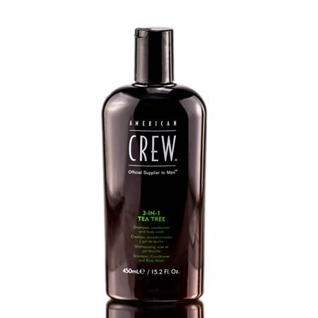 American Crew 3 in 1 Tee Tree - 3-в-1 Средство по Уходу за Волосами и Телом с экстрактом Чайного Дерева 450 мл - фото 4621