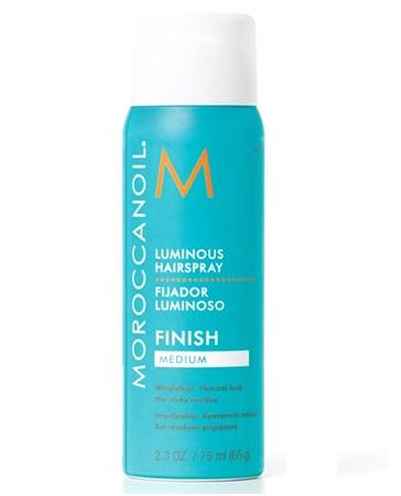 Moroccanoil Luminous Hair Spray Medium - Сияющий лак для волос эластичной фиксации 75мл - фото 4730
