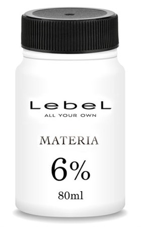 Lebel Materia Oxy 6% - Оксидант для смешивания с краской Materia 80мл (розлив) - фото 5384
