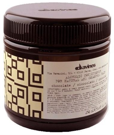 Davines Alchemic Conditioner for natural and coloured hair (chocolate) - Кондиционер Алхимик 250мл для натуральных и окрашенных волос (шоколад) - фото 5604