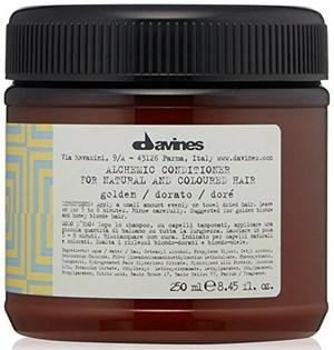 Davines Alchemic Conditioner for natural and coloured hair (golden) Кондиционер Алхимик 250мл для натуральных и окрашенных волос (золотой) - фото 5610