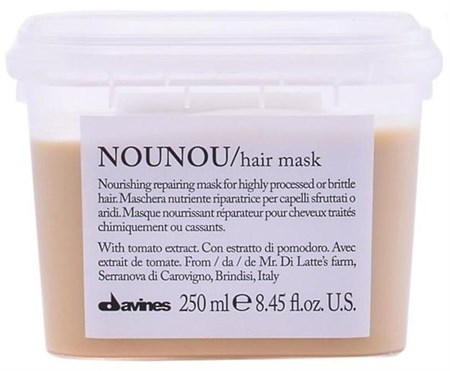 Davines Essential Haircare NOUNOU Nourishing repairing mask - Маска питательная восстанавливающая 250мл для волос - фото 5634
