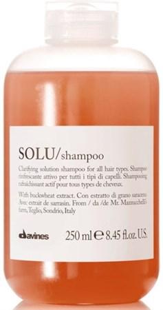 Davines Essential Haircare Solu Refreshing Solution shampoo - Шампунь 250мл освежающий для глубокого очищения волос - фото 5648
