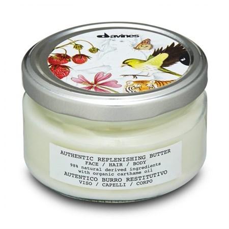 Davines Authentic Formulas Replenishing butter face/hair/body - Масло восстанавливающее для лица волос и тела 200 мл - фото 5758