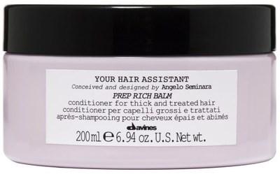 Davines Your Hair Assistant Prep Rich balm - Интенсивный кондиционер для подготовки к укладке поврежденных волос 200мл - фото 5763