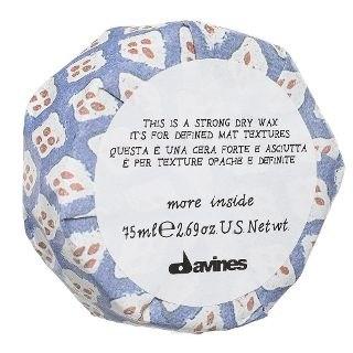 Davines More inside Strong Dry Wax - Сухой воск для текстурных матовых акцентов 75мл - фото 5779