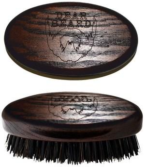 Davines Dear Beard Mini Brush - Щетка для бороды и усов из древесины венге 8 x 4см - фото 5803