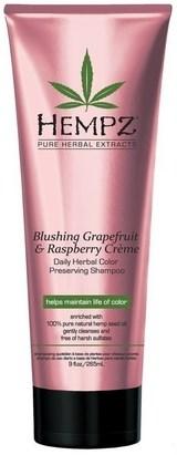 Hempz Blushing Grapefruit&Raspberry Creme Shampoo - Шампунь растительный Грейпфрут и Малина для сохранения цвета и блеска окрашенных волос 265мл - фото 5839