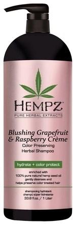 Hempz Blushing Grapefruit & Raspberry Creme Shampoo - Шампунь Грейпфрут и Малина для сохранения цвета и блеска окрашенных волос 1000мл - фото 5841