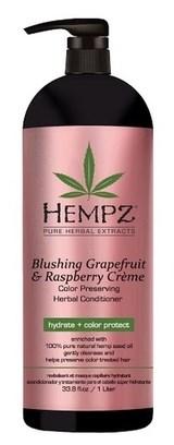 Hempz Blushing Grapefruit & Raspberry Creme Conditioner - Кондиционер Грейпфрут и Малина для сохранения цвета и блеска окрашенных волос 1000мл - фото 5842