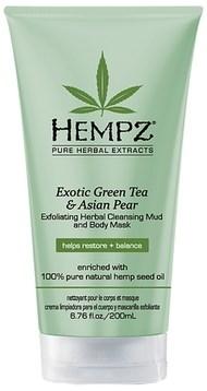 "Маска-глина ""Hempz Exotic Green Tea & Asian Pear Exfoliating Herbal Cleansing Mud and Body Mask растительная, отшелушивающая"" 200мл - фото 5857"