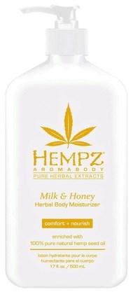 Hempz Milk & Honey Herbal Body Moisturizer - Молочко для тела увлажняющее Молоко и Мёд 500мл - фото 5870
