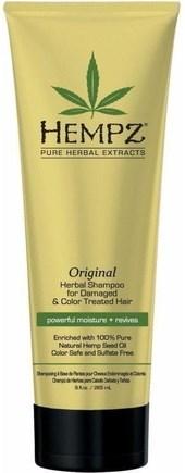 Hempz Original Herbal Shampoo For Damaged & Color Treated Hair - Шампунь растительный Оригинальный сильной степени увлажнения для поврежденных волос 265мл - фото 5874