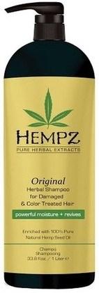 Hempz Original Herbal Shampoo For Damaged & Color Treated Hair - Шампунь растительный Оригинальный для поврежденных окрашенных волос 1000мл - фото 5879