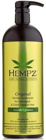 Hempz Original Herbal Conditioner For Damaged & Color Treated Hair - Кондиционер растительный Оригинальный для поврежденных окрашенных волос 1000мл - фото 5880