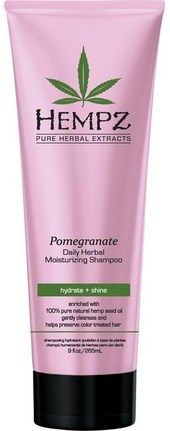 Hempz Daily Herbal Moisturizing Pomegranate Shampoo - Шампунь растительный Гранат легкой степени увлажнения 265мл - фото 5887