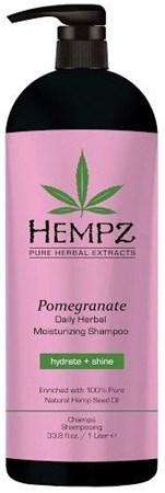 Hempz Daily Herbal Moisturizing Pomegranate Shampoo - Шампунь растительный увлажняющий и разглаживающий Гранат 1000мл - фото 5892