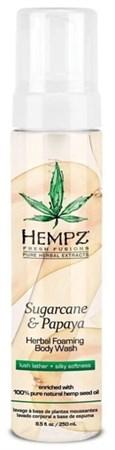 Hempz Sugarcane & Papaya Herbal Foaming Body Wash - Гель-мусс для душа Сахарный тростник и Папайя 250мл - фото 5897