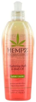 Hempz Hydrating Bath & Body Oil - Масло для ванны и тела увлажняющее 200 мл - фото 5898