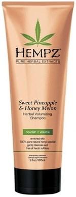 Hempz Sweet Pineapple & Honey Melon Volumizing Shampoo - Шампунь растительный Ананас и Медовая Дыня для придания объёма 265мл - фото 5899