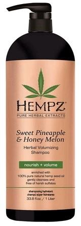 Hempz Sweet Pineapple & Honey Melon Volumising Shampoo - Шампунь растительный Ананас и Медовая Дыня для придания объёма 1000мл - фото 5903