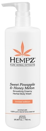 Hempz Sweet Pineapple & Honey Melon Herbal Body Wash - Гель для душа Ананас & Медовая Дыня 750мл - фото 5905
