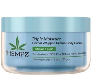 """Скраб """"Hempz Triple Moisture Herbal Body Scrub Тройное увлажнение"""" 176гр для тела - фото 5909"""
