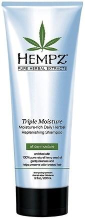 "Шампунь ""Hempz Hair Care Triple Moisture Replenishing Shampoo"" для волос тройное увлажнение 265мл - фото 5911"