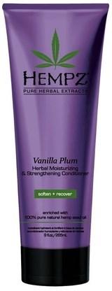 Hempz Vanilla Plum Herbal Moisturizing & Strengthening Conditioner - Кондиционер растительный увлажняющий и укрепляющий Ваниль и Слива 265мл - фото 5918