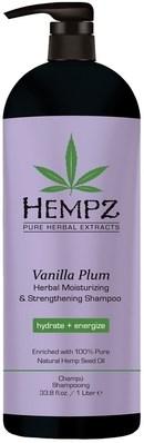 Hempz Vanilla Plum Herbal Moisturizing & Strengthening Shampoo - Шампунь  растительный увлажняющий и укрепляющий Ваниль и Слива 1000мл - фото 5920
