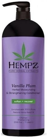 Hempz Vanilla Plum Herbal Moisturizing & Strengthening Conditioner - Кондиционер растительный увлажняющий и укрепляющий Ваниль и Слива 1000мл - фото 5921