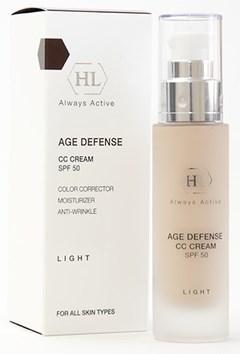 Holy Land Age Defense CC Cream Light SPF50 - Крем корректирующий натуральный оттенок 50мл - фото 5972