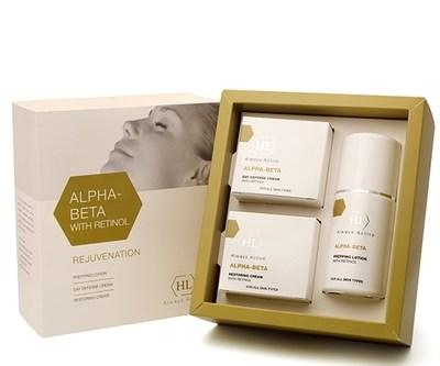 Holy Land Alpha-Beta and Retinol kit - Набор для восстановления текстуры и цвета кожи 125 мл+50 мл+50 мл - фото 5976
