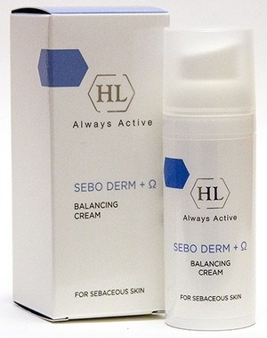 Holy Land Sebo Derm Balancing Cream - Лёгкий увлажняющий крем с ферментами 50мл - фото 6040