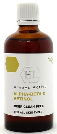 Holy Land Alpha-Beta & Retinol Deep Clean Peel - Пилинг увлажняющий для всех типов кожи 100мл - фото 6180
