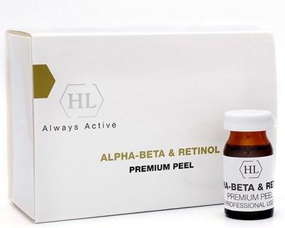 Holy Land Alpha-Beta & Retinol Premium Peel - Комбинированный премиум пилинг на основе фруктовых экстрактов 6 х 7мл - фото 6181