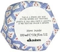 Davines More inside Strong Dry Wax - Сухой воск для текстурных матовых акцентов 100мл