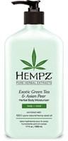 """Молочко """"Hempz Exotic Green Tea & Asian Pear Herbal Moisturizer увлажняющее Зеленый чай и Груша"""" 500мл для тела"""