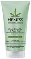 "Маска-глина ""Hempz Exotic Green Tea & Asian Pear Exfoliating Herbal Cleansing Mud and Body Mask растительная, отшелушивающая"" 200мл"
