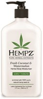"Молочко ""Hempz Fresh Coconut & Watermelon Herbal Moisturizer увлажняющее Кокос и Арбуз"" 500мл для тела"
