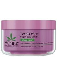 Hempz Vanilla Plum Herbal Sugar Body Scrub - Скраб для тела Ваниль и Слива 176гр